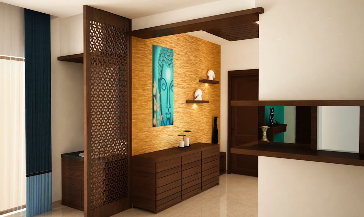 Hand wash area and crockery unit Modern dining room by homify Modern