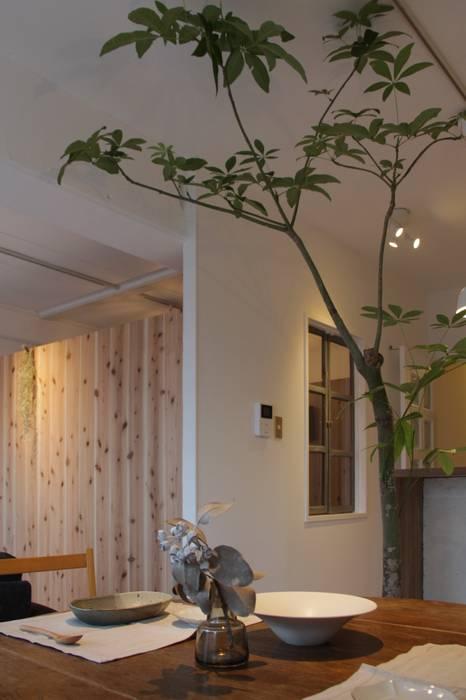 Apartment in Gakuemmae ラスティックな 窓&ドア の Mimasis Design/ミメイシス デザイン ラスティック 木 木目調