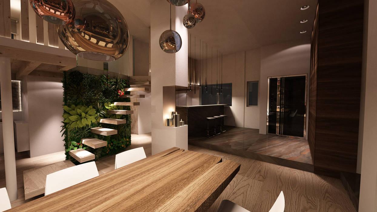 loft_2017 Studio di Segni Sala da pranzo moderna