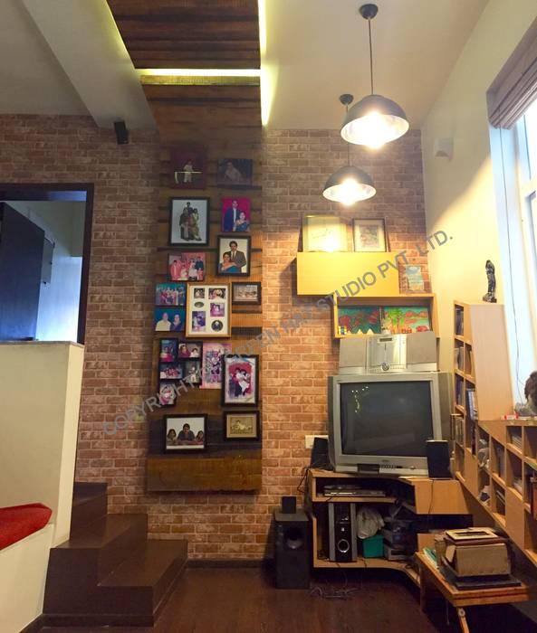 Mr. Siva Rangaswamy GREEN HAT STUDIO PVT LTD Rustic style media room