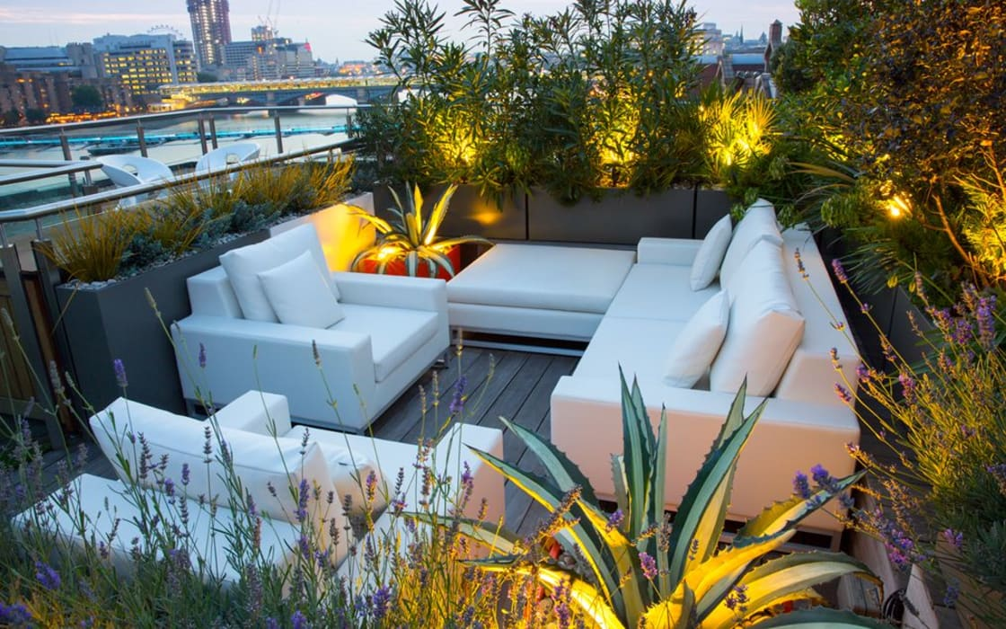 Roof terrace planting design ideas Modern balcony, veranda & terrace by MyLandscapes Garden Design Modern