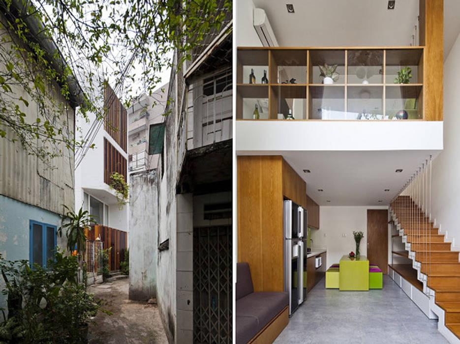 Thông tin về ngôi nhà phố 32m2 bởi Công ty TNHH Xây Dựng TM – DV Song Phát Hiện đại