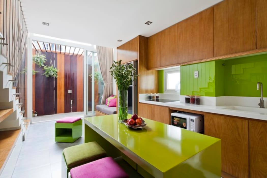 Thiết kế và hoàn thiện nội thất nhà phố đẹp:  Phòng ăn by Công ty TNHH Xây Dựng TM – DV Song Phát,