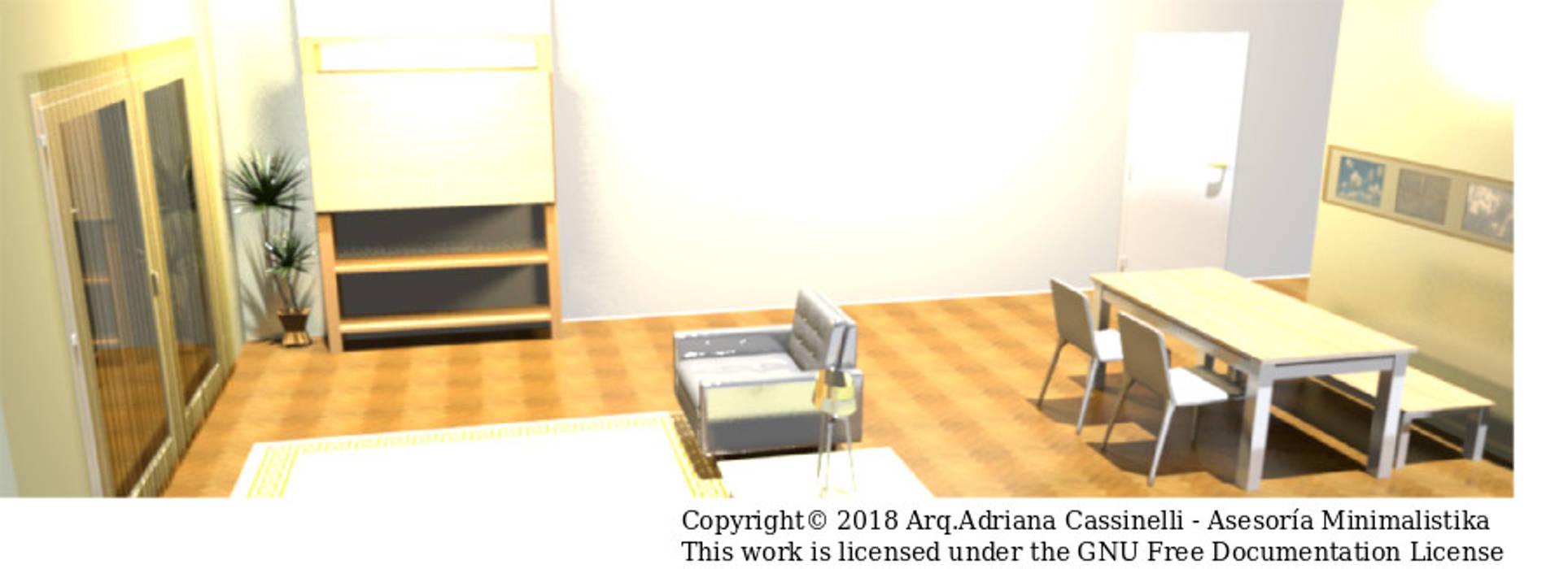 3D Sala versión uso profesional: Salas / recibidores de estilo minimalista por Minimalistika.com