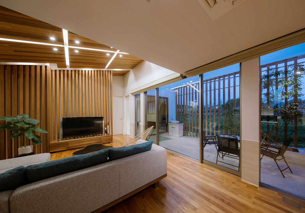 modern living room by architect show co ltd homify