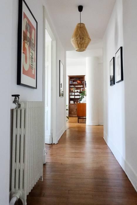 Un appartement à l\'esprit vintage: couloir et hall d\'entrée de style ...