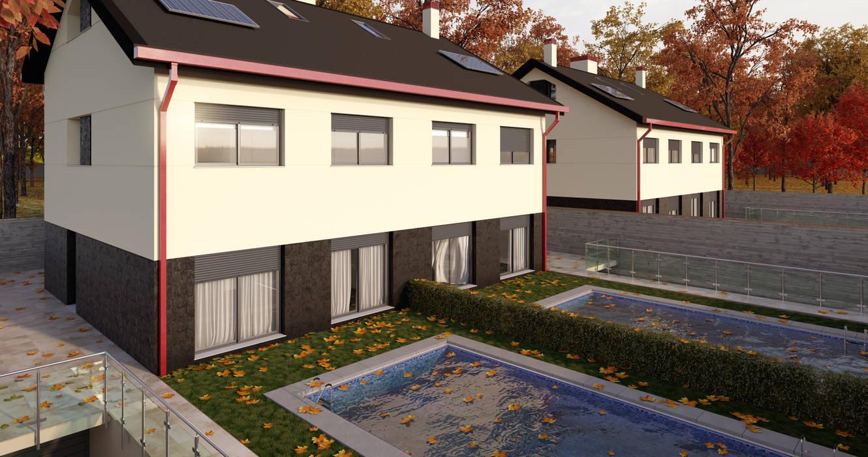 Vista interior Casas de estilo moderno de A3D INFOGRAFIA Moderno