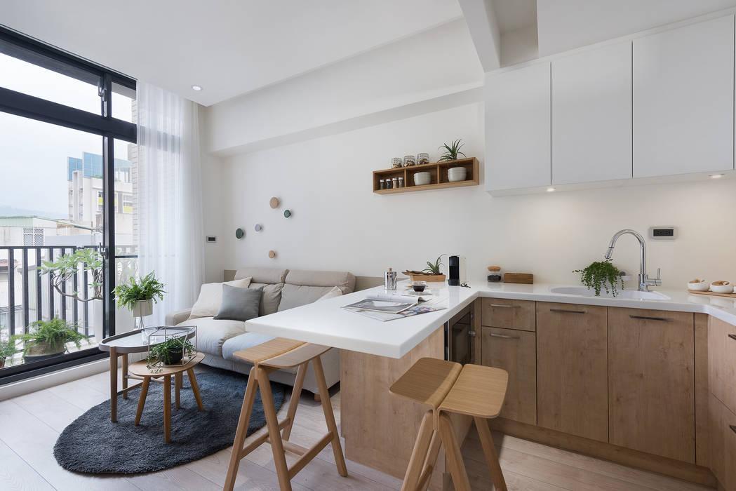 早安,日和!:  餐廳 by 寓子設計, 現代風