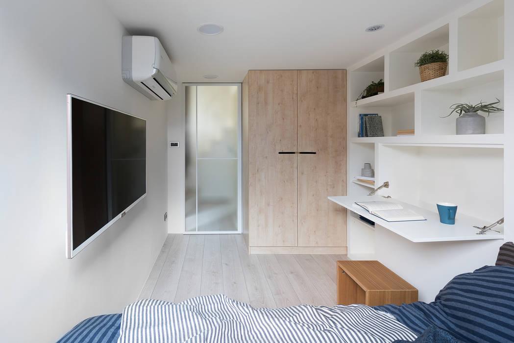 寓子設計が手掛けた寝室, モダン