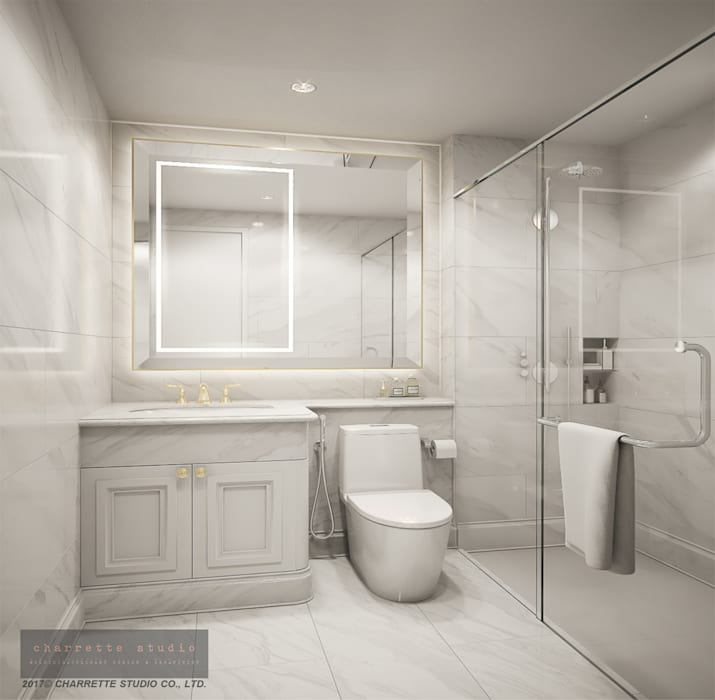 Bathroom 2:  ห้องน้ำ by Charrette Studio Co., Ltd.