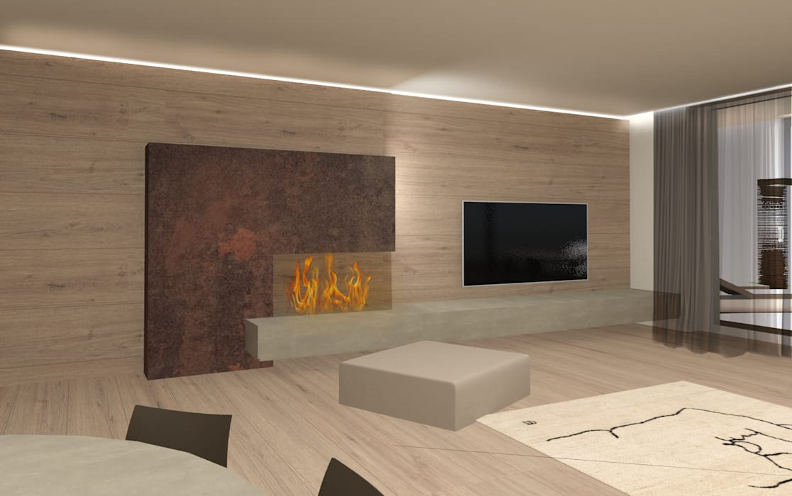 soggiorno: Soggiorno in stile in stile Moderno di Giemmecontract srl.