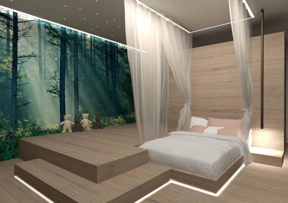 cameretta bambina: Camera da letto in stile in stile Moderno di Giemmecontract srl.