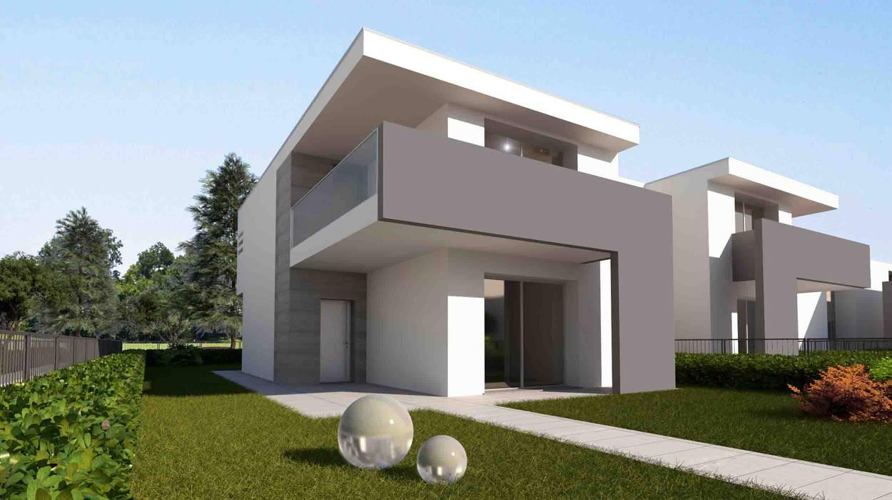 vista dall'esterno: Case in stile in stile Moderno di Giemmecontract srl.