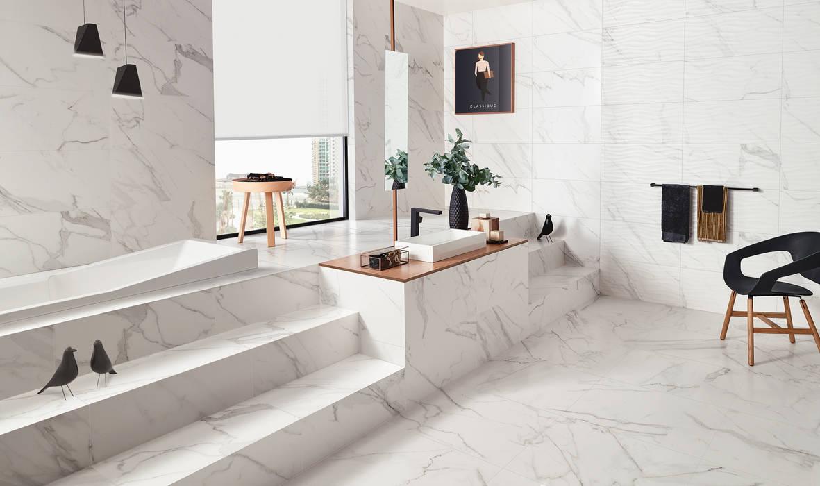 Precious Love Tiles Casas de banho ecléticas