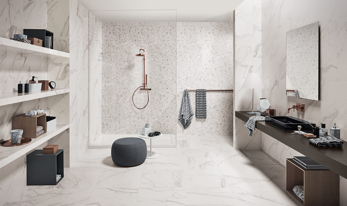 Precious Industrial style bathroom by Love Tiles Industrial