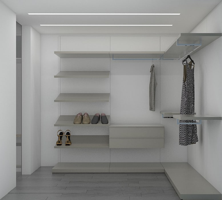 La Llovizna :  Dressing room by Spazio Design