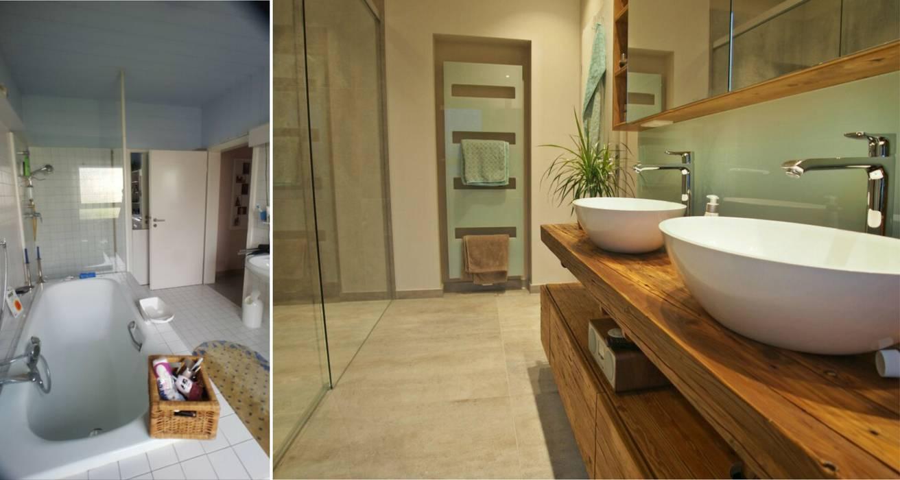 Badezimmer in wiesbaden mit altholz badezimmer von for Badezimmer einrichtungsideen