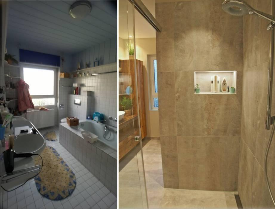 Badezimmer in wiesbaden mit altholz: badezimmer von ...