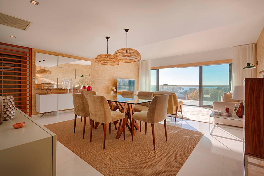 ห้องทานข้าว โดย SHI Studio, Sheila Moura Azevedo Interior Design, ทรอปิคอล
