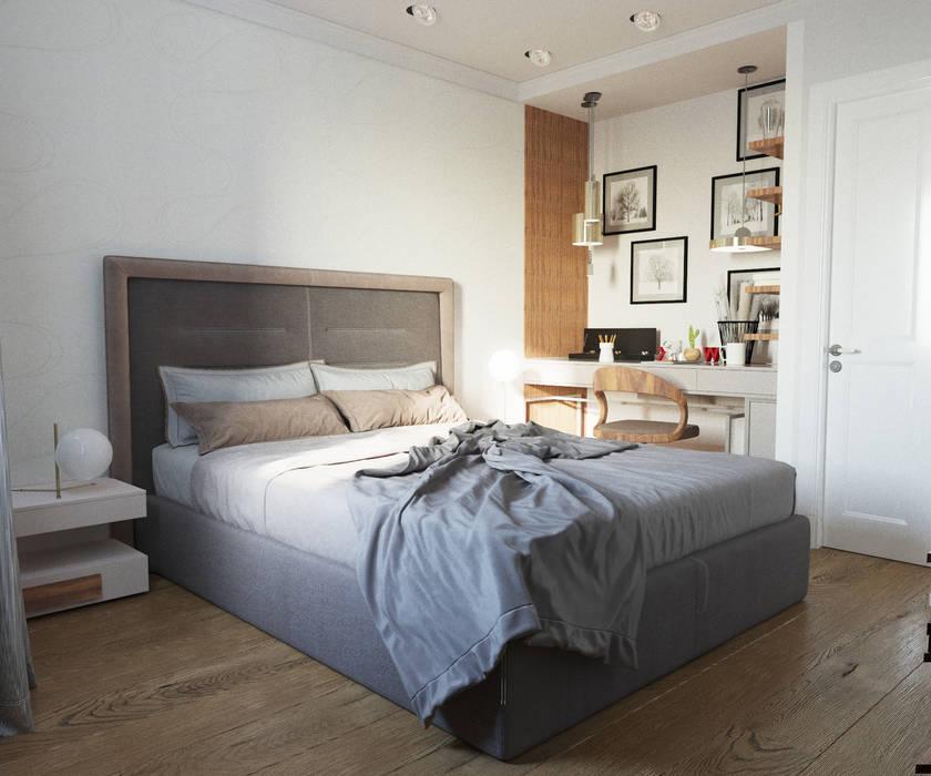 Дизайн квартиры 97 кв.м. г.Москва: Спальни в . Автор – Дизайн студия Simply House