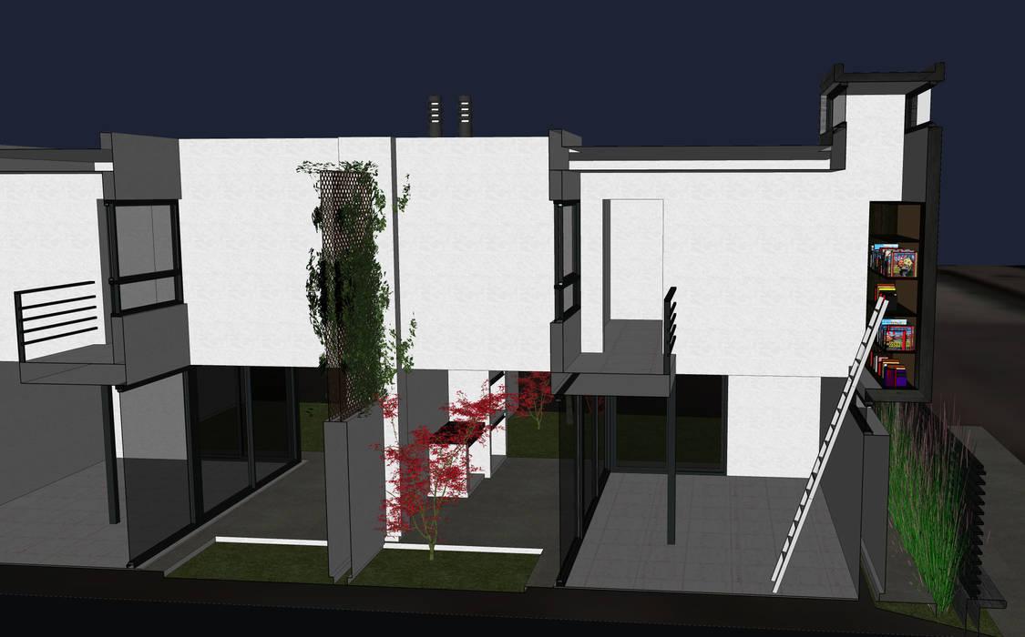 Dos Dulpex en GreenVille 2: Jardines de invierno de estilo  por Development Architectural group