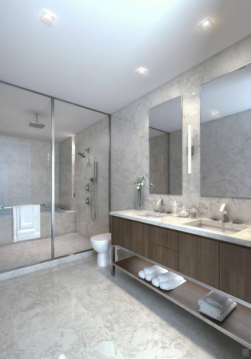 EDEN RESIDENCES Baños de estilo moderno de C | C INTERIOR ARCHITECTURE Moderno
