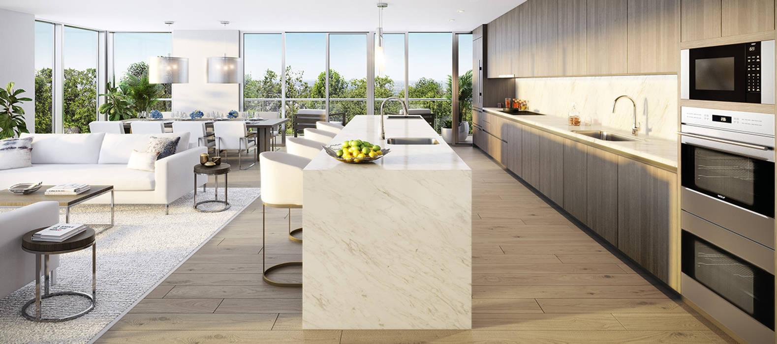 EDEN RESIDENCES: Salas de estilo  por C | C INTERIOR ARCHITECTURE , Moderno