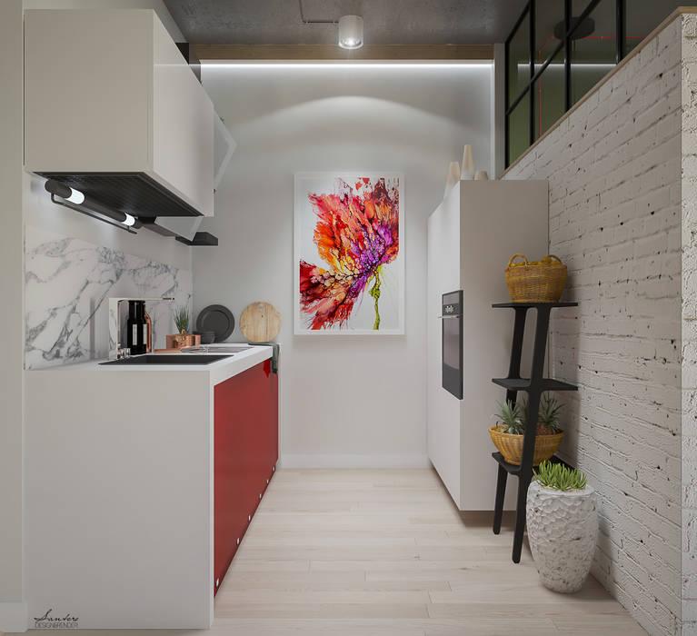 Ristrutturazione appartamento 52 mq - Forlì: Cucina in stile  di Santoro Design Render
