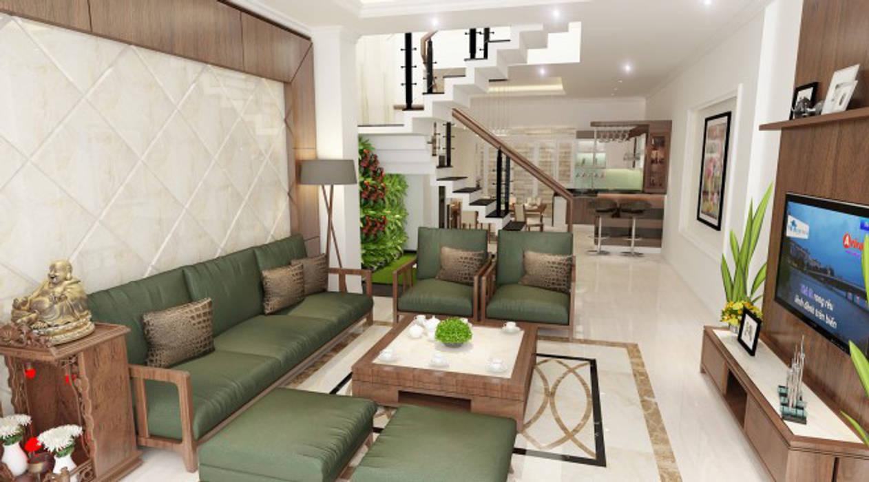 Hình ảnh 3D thiết kế nội thất :  Phòng khách by Công ty TNHH Xây Dựng TM – DV Song Phát