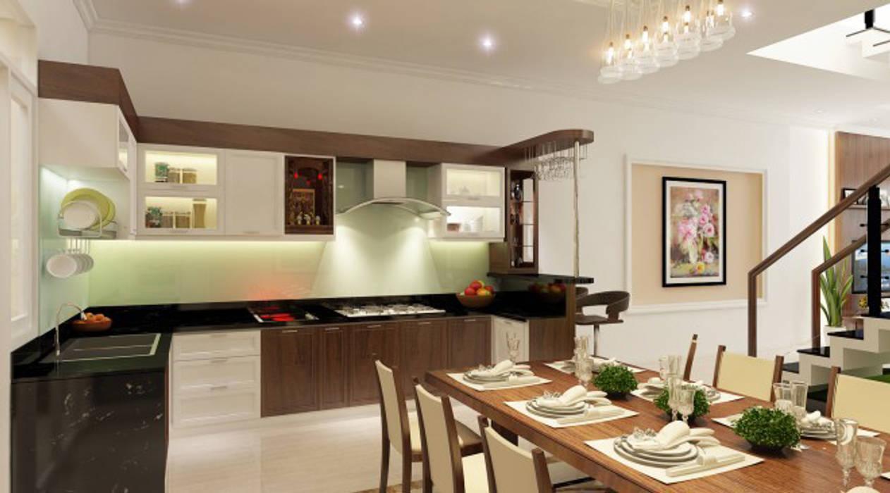 Hình ảnh 3D thiết kế nội thất Phòng ăn phong cách hiện đại bởi Công ty TNHH Xây Dựng TM – DV Song Phát Hiện đại