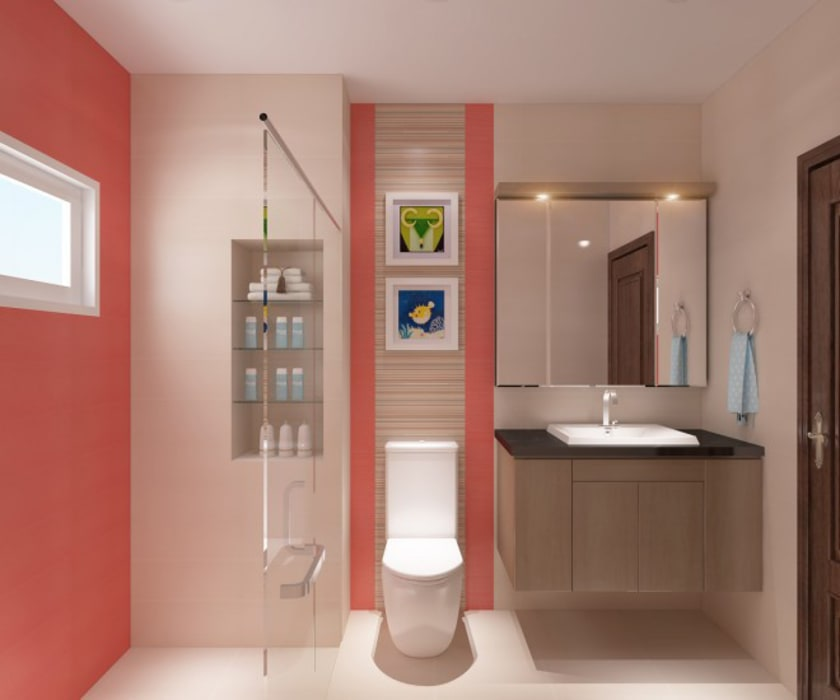 Hình ảnh 3D thiết kế nội thất Phòng tắm phong cách hiện đại bởi Công ty TNHH Xây Dựng TM – DV Song Phát Hiện đại