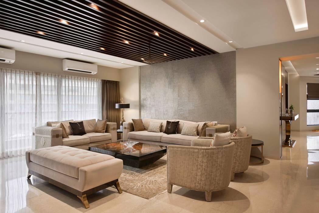 The Warm Bliss Minimalist living room by Ar. Milind Pai Minimalist Marble