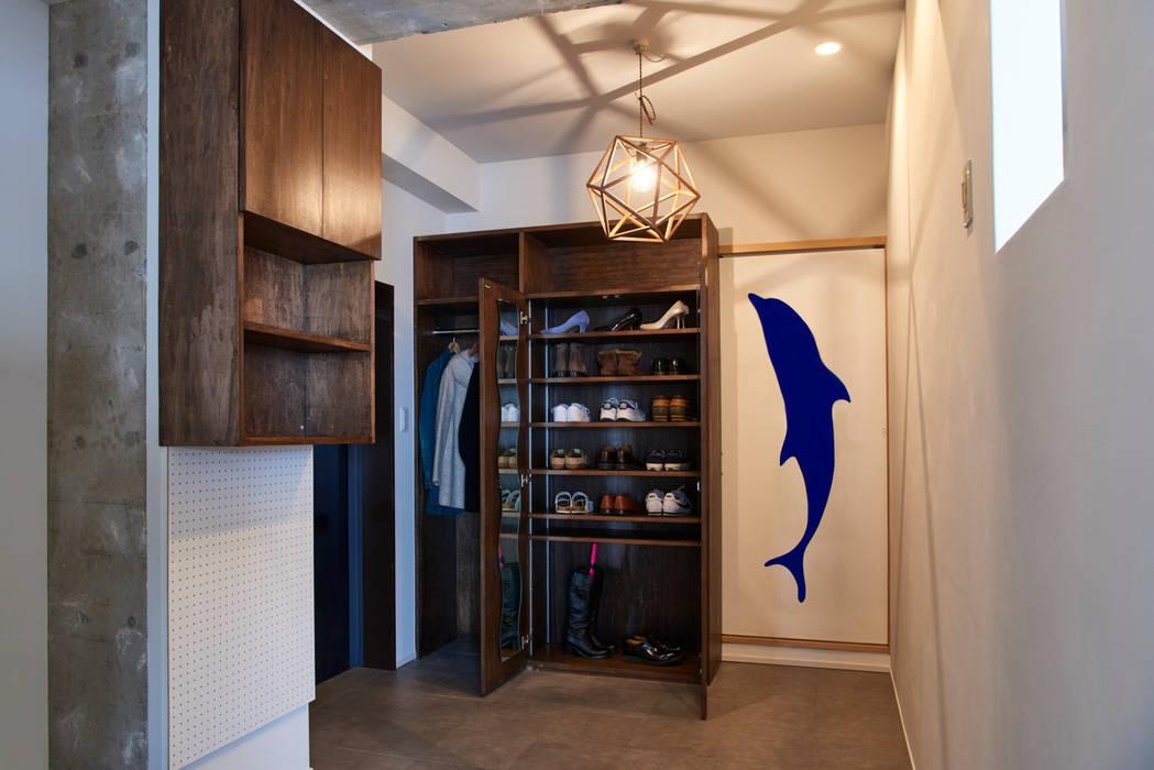 玄関土間 tai_tai STUDIO ラスティックスタイルの 玄関&廊下&階段