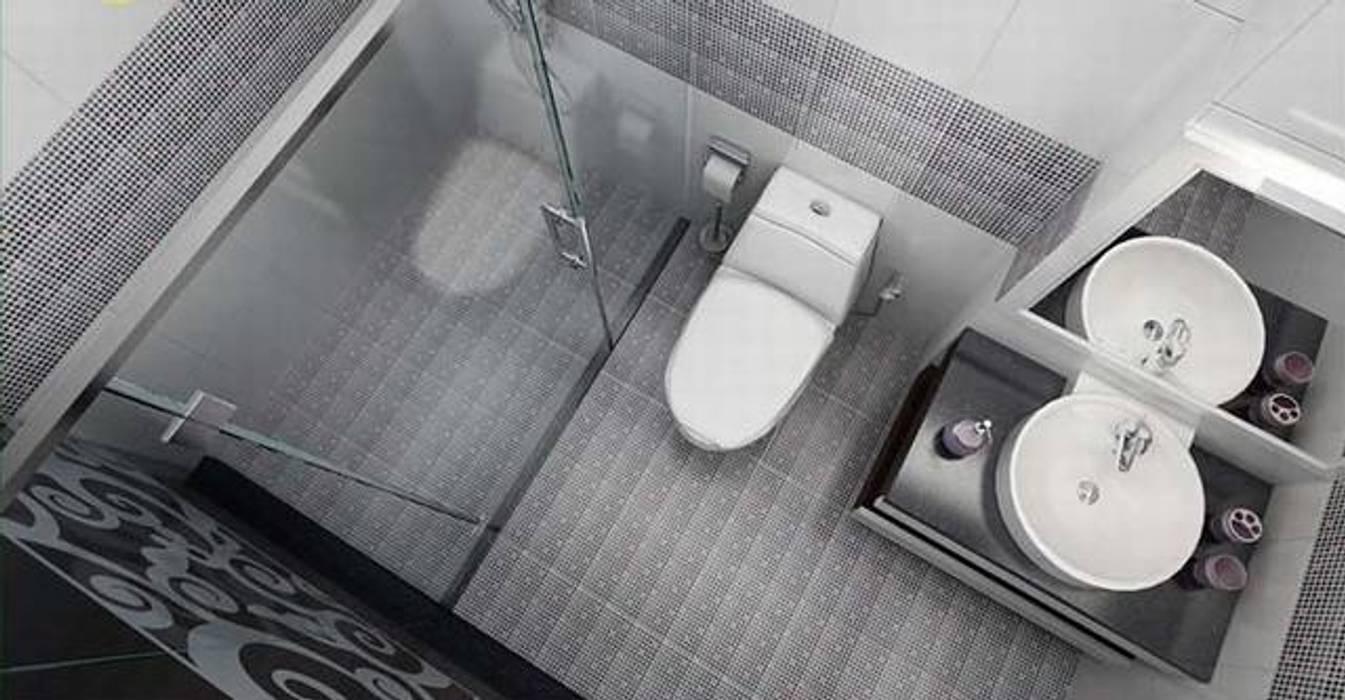 Gam màu trắng - xám phù hợp với đồ nội thất:  Phòng tắm by Công ty TNHH TK XD Song Phát, Châu Á Đồng / Đồng / Đồng thau