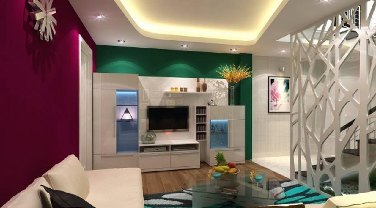 Khu vực phòng khách – bếp – phòng ăn:  Phòng khách by Công ty TNHH Xây Dựng TM – DV Song Phát