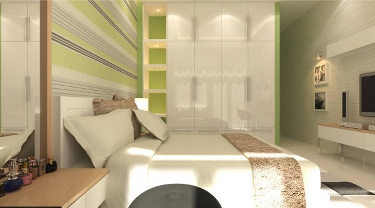 Thiết kế phòng ngủ master – phòng ngủ của con – phòng ông bà – phòng ngủ khách Công ty TNHH Xây Dựng TM – DV Song Phát Phòng ngủ phong cách hiện đại