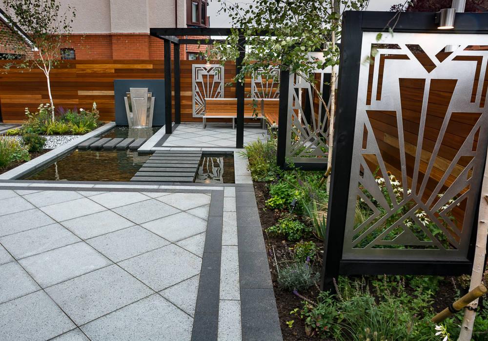 Art Deco Garden Taman Modern Oleh Robert Hughes Garden Design Modern Homify
