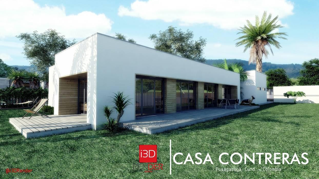 CASA CONTRERAS | Fusagasugá, Cundinamarca.: Casas campestres de estilo  por i3DRender, Minimalista Concreto reforzado