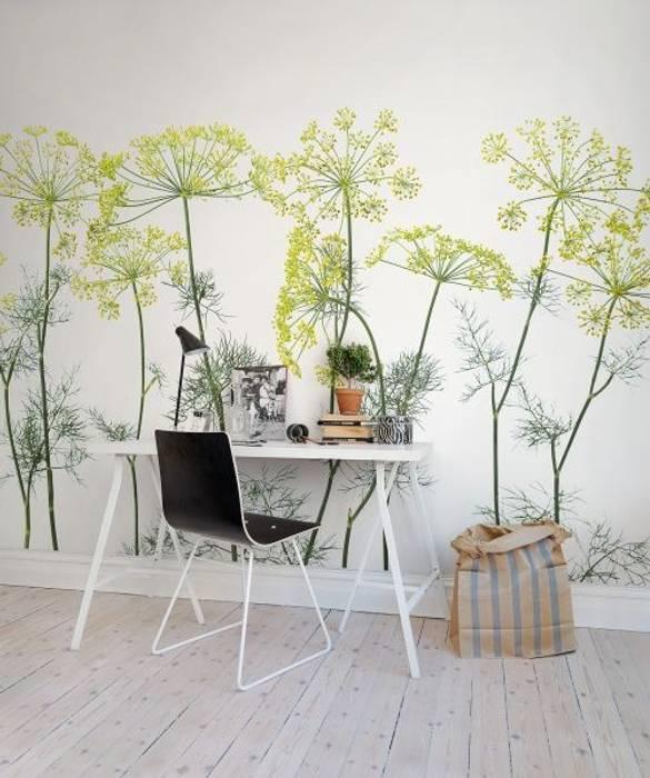 SK Concept Duvar Kağıtları  – Green Flowers :  tarz Duvarlar