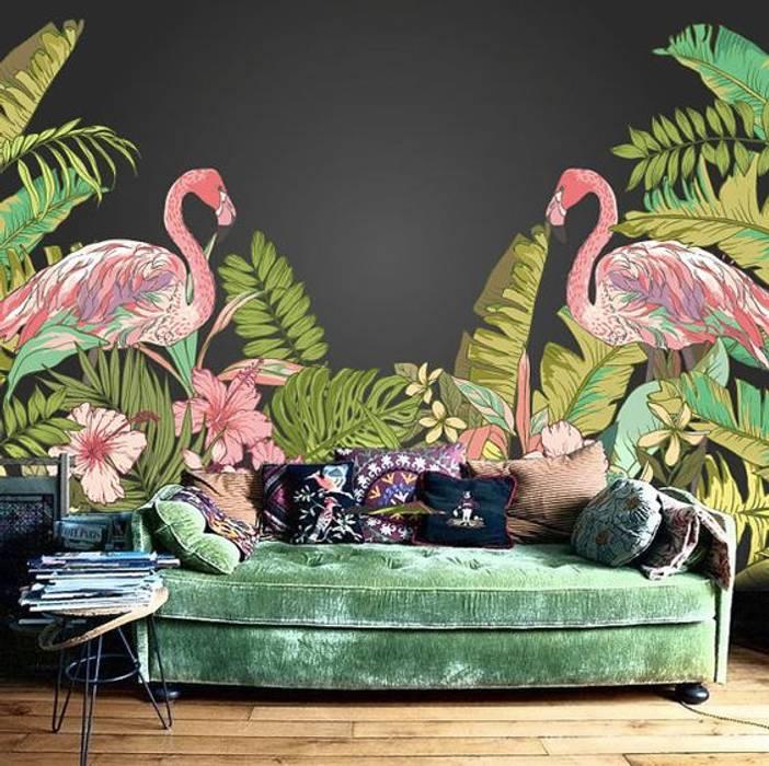 Flamingo homify Akdeniz Duvar & Zemin Rengarenk