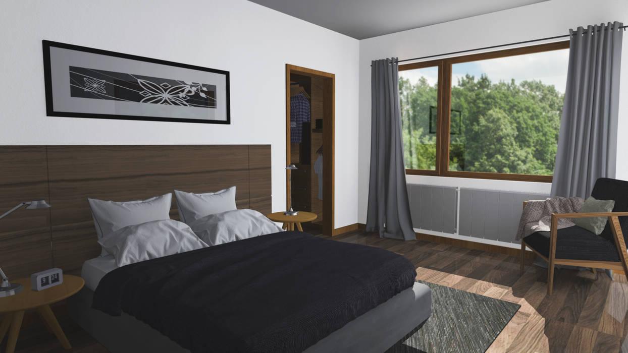 CASA M-M: Dormitorios de estilo  por Pro Aus Arquitectos, Minimalista