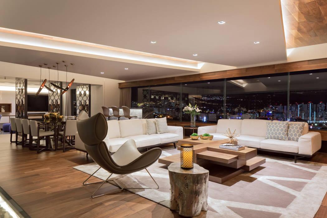 Remodelación Departamento Frondoso, CDMX. Art.chitecture, Taller de Arquitectura e Interiorismo 📍 Cancún, México. SalasMesas de centro y auxiliares