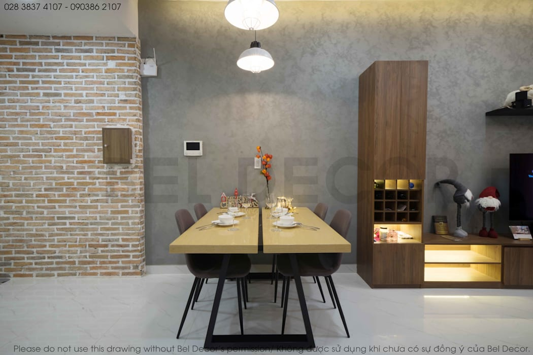 Project: HO1784 Apartment (IC)/ Bel Decor :  Phòng ăn by Bel Decor,
