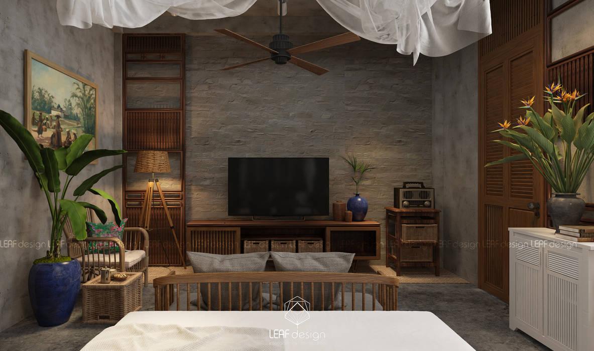 Cảm xúc Á Đông - Nhà phố Sài Gòn:  Phòng ngủ by LEAF Design ,