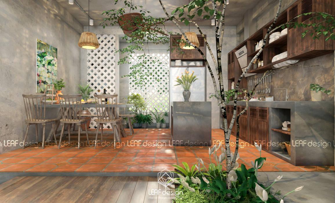 Cảm xúc Á Đông - Nhà phố Sài Gòn Phòng tắm phong cách châu Á bởi LEAF Design Châu Á