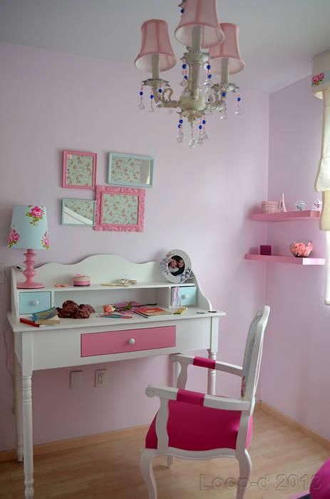 Habitación de niña loop-d Habitaciones infantilesEscritorios y sillas