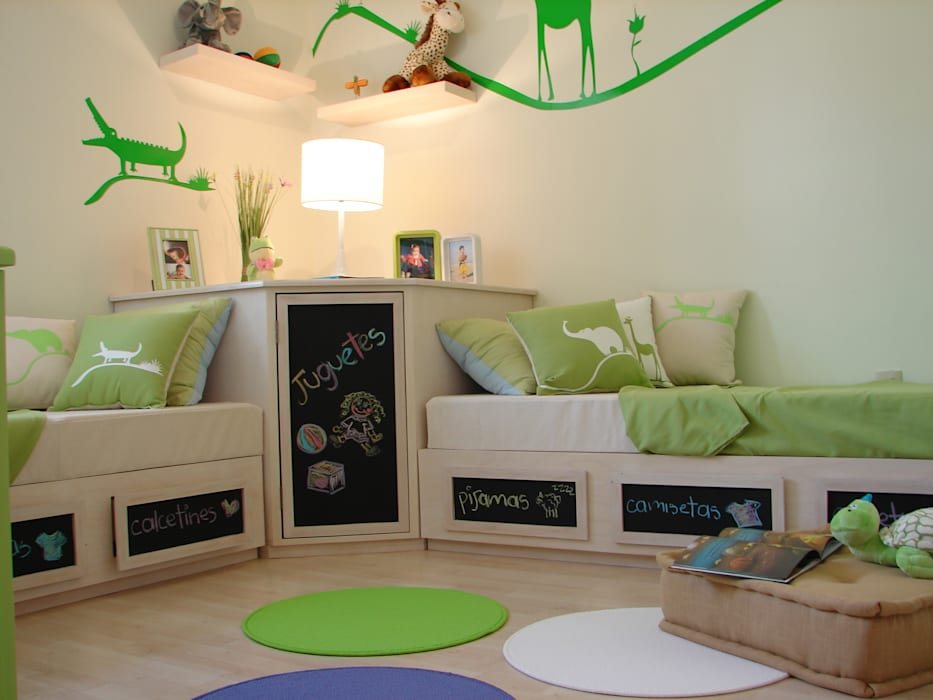 kids bedroom, funny bed room loop-d Habitaciones de niños