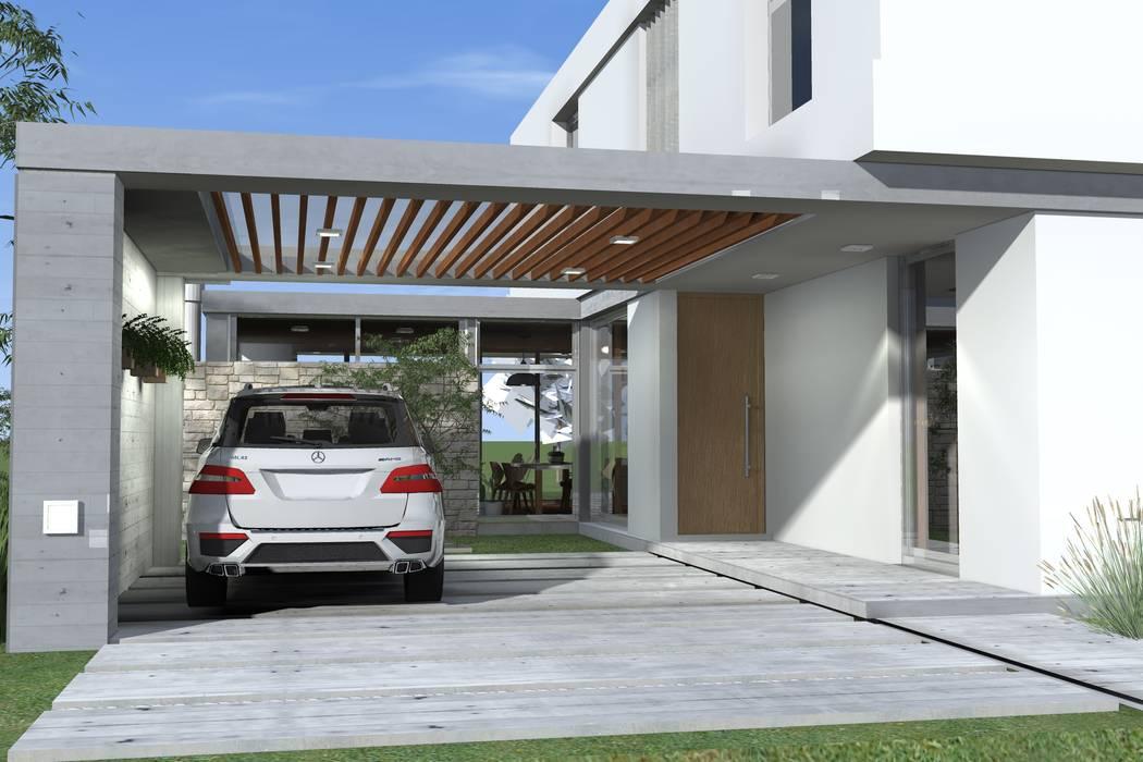 Garage/shed by Arquitectura Bur Zurita, Modern
