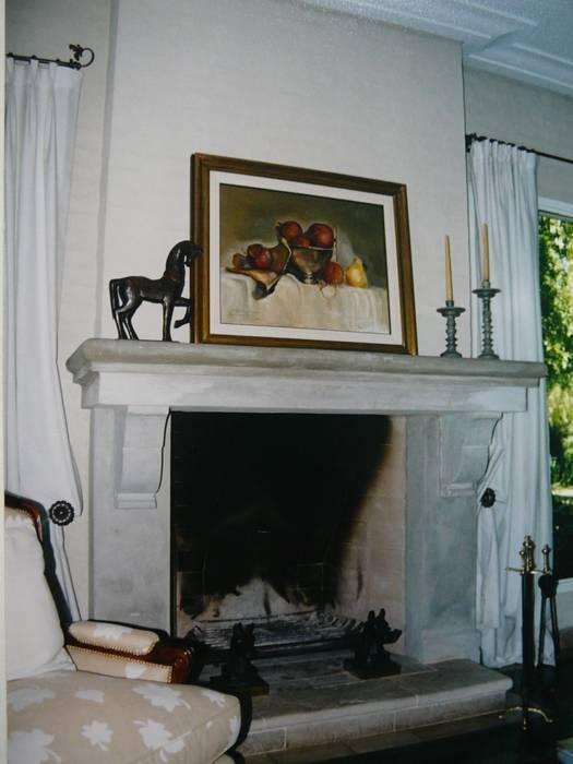 CASA EN MARTINDALE: Livings de estilo colonial por Estudio Dillon Terzaghi Arquitectura