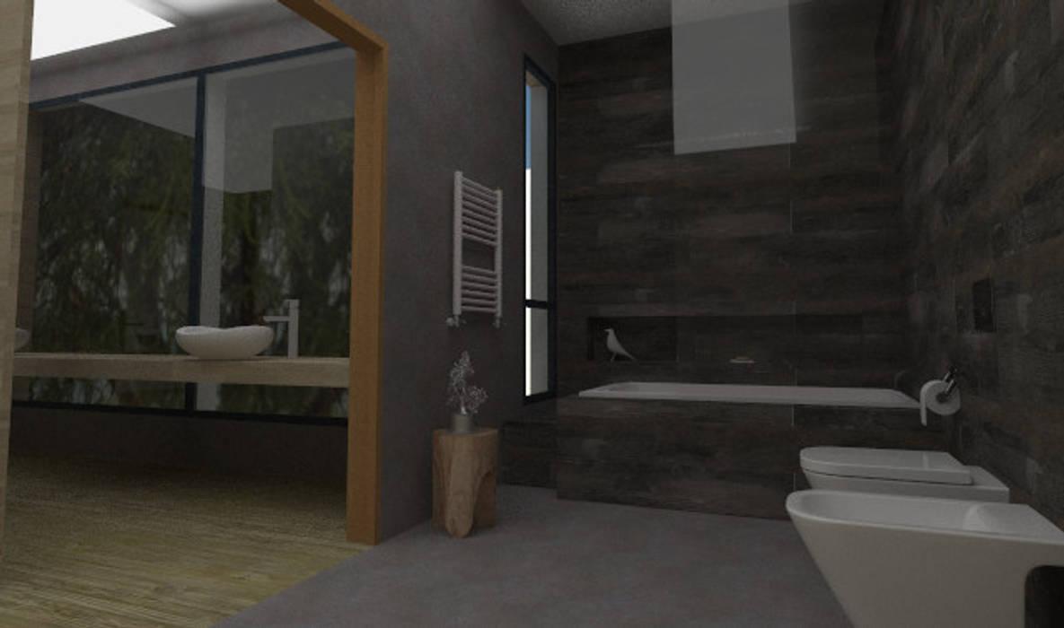 Baño Suite Baños De Estilo Por Jamstudioindustrial Homify